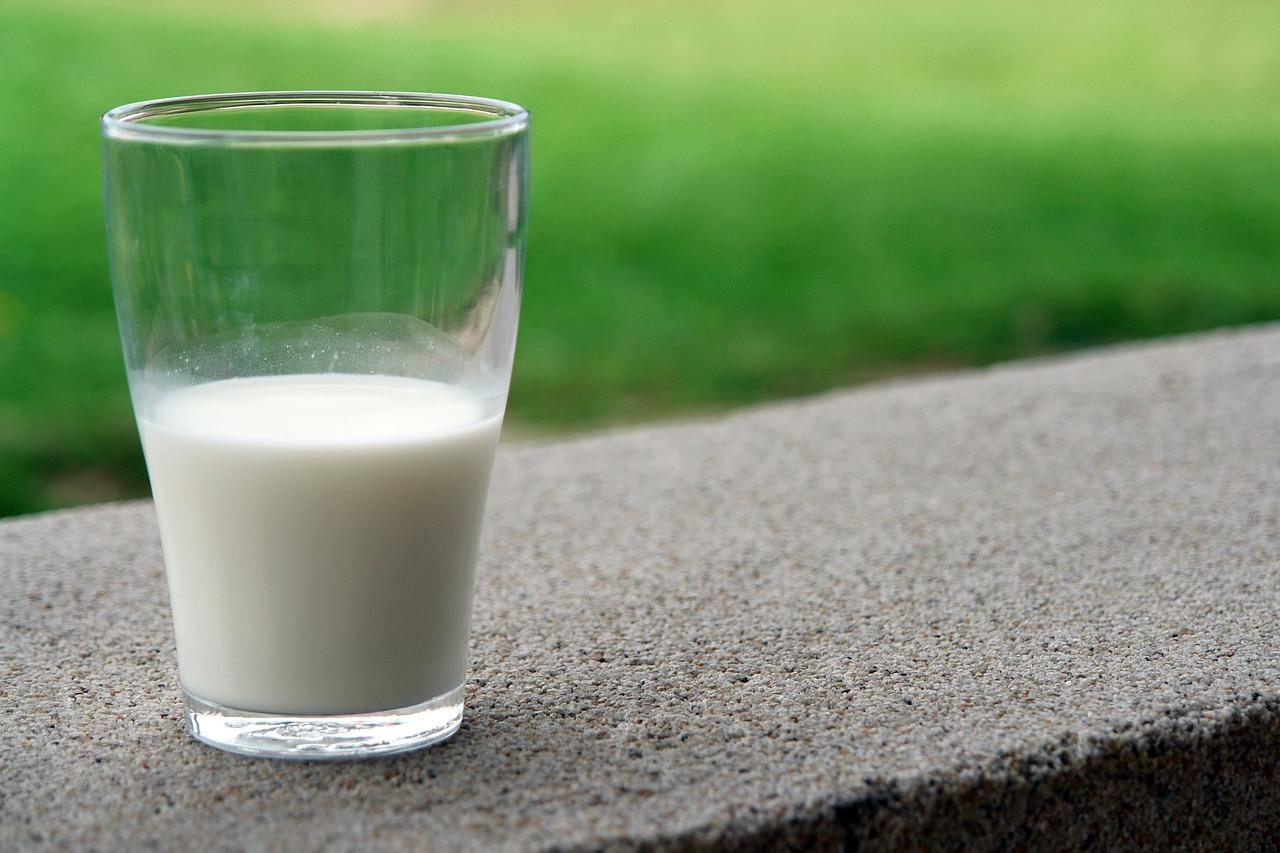 グラスに注がれた牛乳