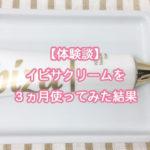 【体験談】イビサクリームを3ヵ月使ってみた結果